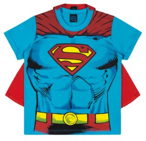 Camiseta com Capa Manga Curta  Superman