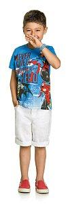 Camiseta Manga Curta Liga da Justiça