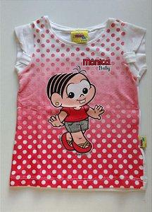Camiseta Manga Curta Turma da Mônica Baby