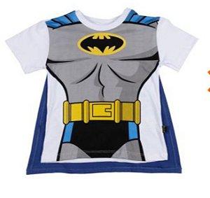 Camiseta Manga Curta com Capa Batman
