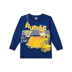 Camiseta Manga Longa Azul Patrulha Canina
