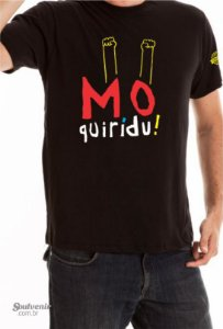 Camiseta Mô Quirídu! Preta