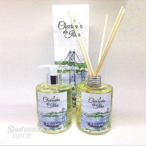 Combo Cheirinho da Ilha Floripa Sabonete Líquido + Aroma Stick 350ml