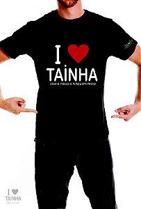 Camiseta I Love Tainha Preta