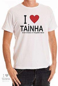 Camiseta I Love Tainha Branca