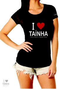 Camiseta Feminina I Love Tainha Preta