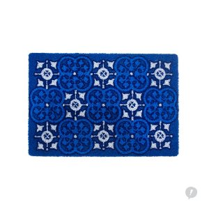 Capacho (Tapete) em vinil Azulejo Português Azul e Branco