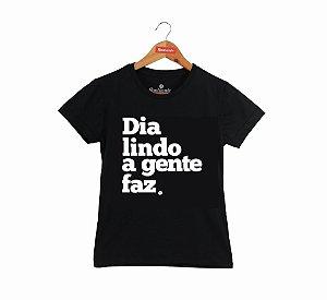 Baby Look Dazaranha - Dia Lindo (preta)
