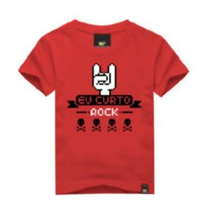 Camiseta Infantil Eu Curto Rock