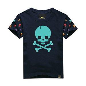Camiseta Infantil Skull Crack