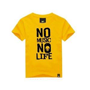 Camiseta Infantil No Music No Life