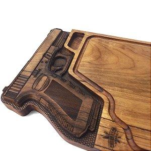 Tabua de carne em madeira, Pistola .40 50x30