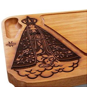 Tabua de carne em madeira, Nossa Senhora Aparecida
