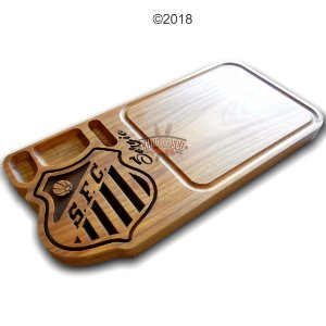 Tabua de carne em madeira, Santos 60x30