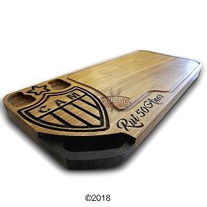 Tabua de carne em madeira, Atlético Mineiro 67x30