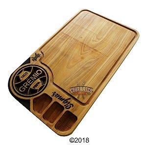 Tabua de carne em madeira, Grêmio 67x40