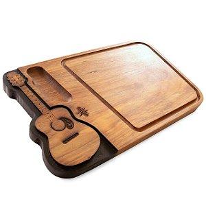 Tabua de carne em madeira, Violão
