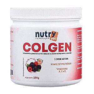 Colgen Colágeno Hidrolisado e Vitaminas - Contém 2 sabores à sua escolha: Frutas Vermelhas ou Limão