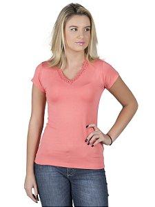 Blusa Rosa com Bordado