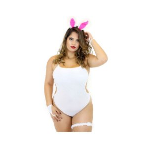 Kit Mini Fantasia Body Coelhinha Plus Size