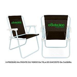 Cadeira de Praia Personalizada Aço e Alumínio Para Empresa