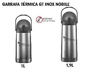 Garrafa Térmica Personalizada Brindes Para Empresas Inox/Plástico 1L