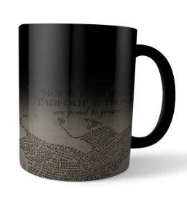 Caneca Mágica Mapa do Maroto Harry Potter