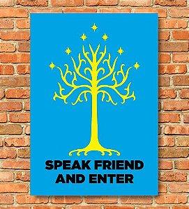 Placa Speak Friend