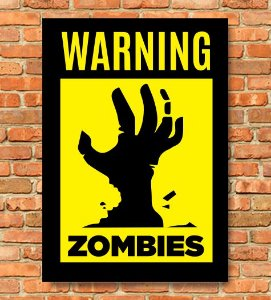 Placa  Warning Zombies,