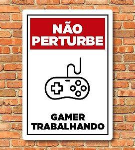 Placa Não Perturbe Gamer