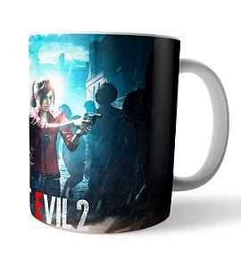 Caneca Resident Evil 2 Leon e Claire