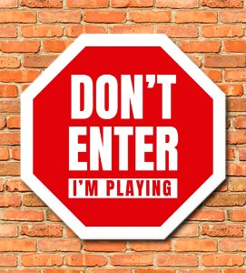 Placa Dont Enter
