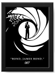 Pôster Bond, James Bond 007