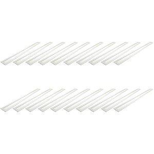Kit 20  Luminária Plafon LED 30W 10x120 Retangular Embutir Branco Frio 6000k