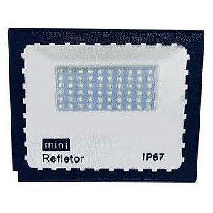 Mini Refletor Holofote LED SMD 300W Branco Frio IP67