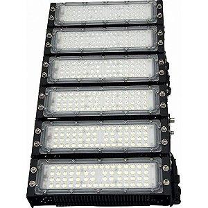 Refletor LED Holofote Modular 300w 3000K Branco Quente IP65