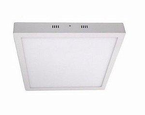 Luminária Plafon LED 30W 40x40 Quadrado De Sobrepor Branco Neutro 4000k