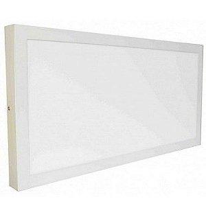Luminária Plafon LED 30W 30x60 Quadrado De Sobrepor Branco Neutro 4000k