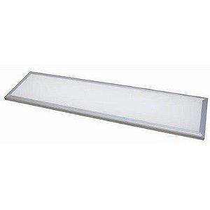 Luminária Plafon Led 48w 30x120 Retangular de Embutir Branco Neutro 4000k