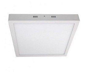 Luminária Plafon LED 48W 60x60 Quadrado Sobrepor Branco Neutro 4000k