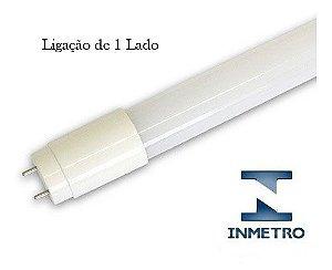 Lâmpada Tubular INMETRO 10W 60cm LED Ho T8 Bivolt Branco Frio 6000k