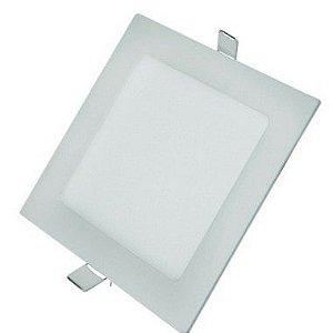 Luminária Plafon LED 12W 17x17 Quadrado Embutir Branco Neutro 4000k
