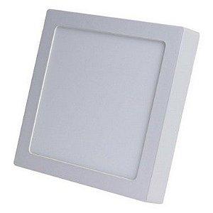 Luminária Plafon LED 18W 22x22 Quadrado De Sobrepor Branco Neutro 4000k
