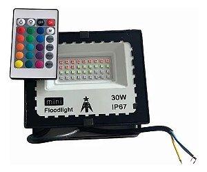 Refletor com Memoria Holofote LED 30W IP66 A prova D'Água  RGB Multicolorido