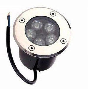 Spot Balizador LED 5W Embutir Para chão Jardim e Piso Azul IP67 A Prova D'Agua