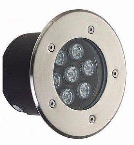 Spot Balizador LED 7W Embutir Para chão Jardim e Piso Azul IP67 A Prova D'Agua
