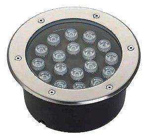 Spot Balizador LED 18W Embutir Para chão Jardim e Piso Branco Quente IP67 A Prova D'Agua