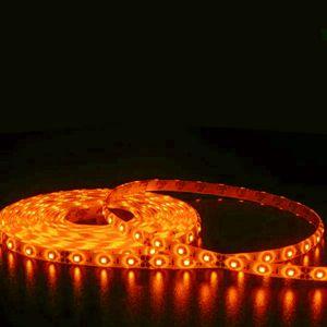 Fita LED 5050 Ambar Siliconada Prova D'água 5 Metros + Fonte