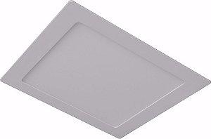Kit 10 Luminária Plafon Led Quadrado Embutir 12w 17x17 Branco Frio