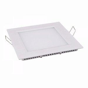 Luminária  Plafon Led Quadrado Embutir 3w 8,8x8,8 Branco Frio